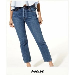 Agolde | Riley High Rise Straight Crop Jeans